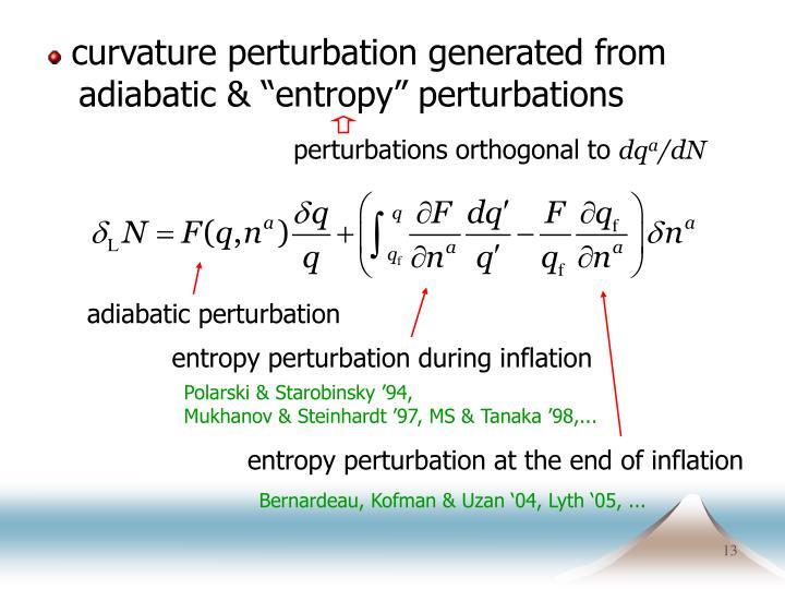 curvature perturbation generated from