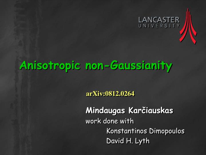 anisotropic non gaussianity