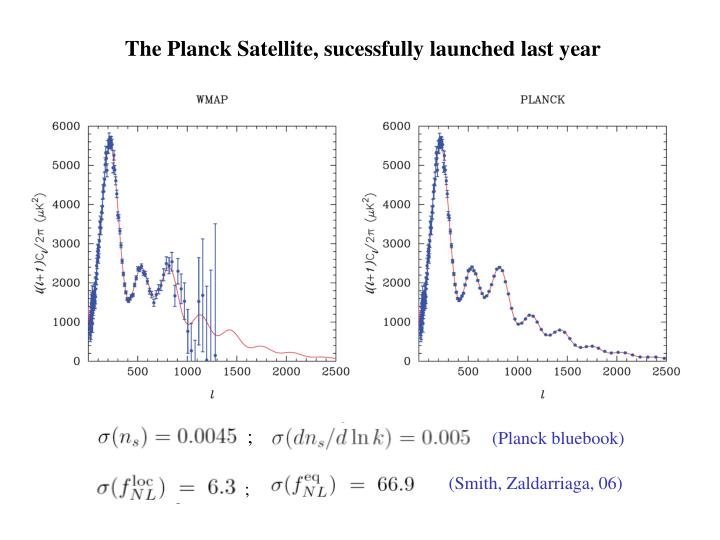 The Planck Satellite, sucessfully launched last year