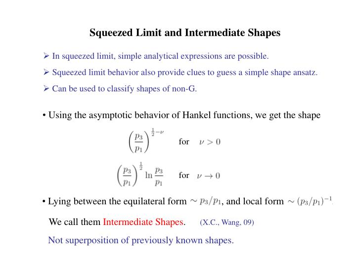 Using the asymptotic behavior of Hankel functions, we get the shape