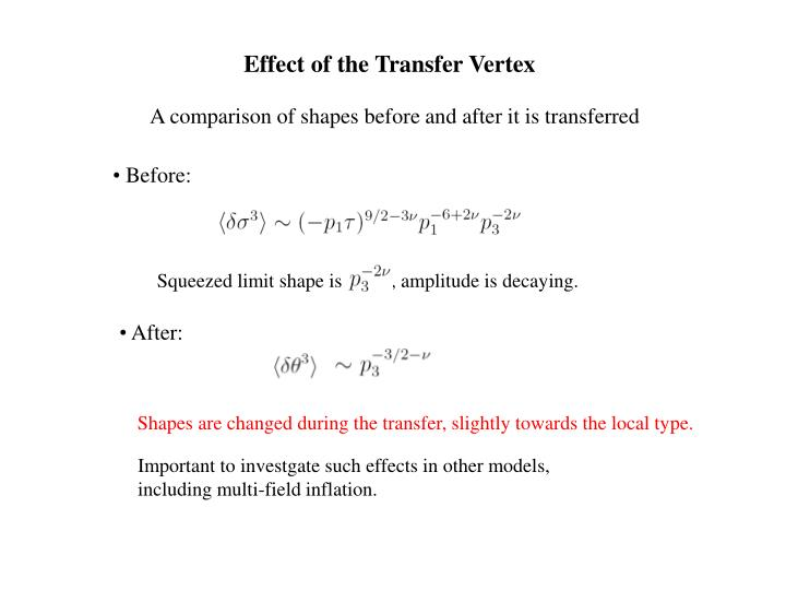 Effect of the Transfer Vertex