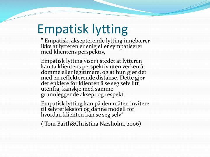 Empatisk lytting