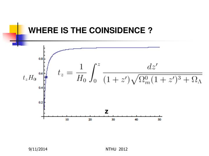 WHERE IS THE COINSIDENCE ?