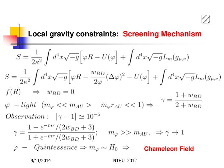 Local gravity constraints: