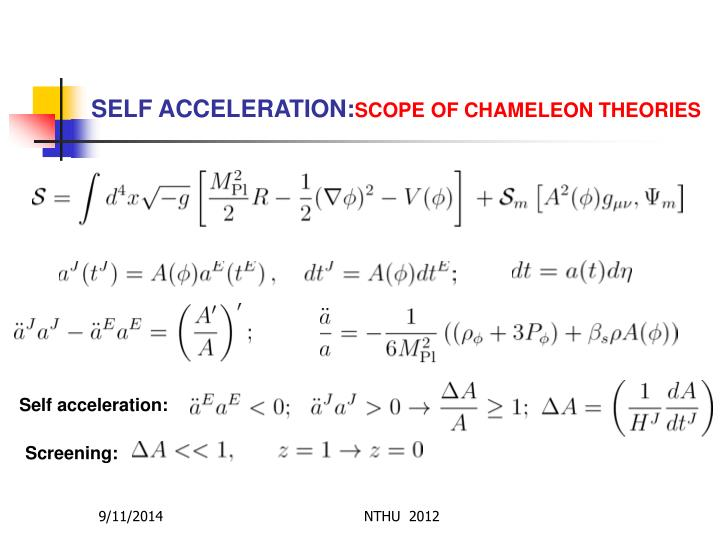 SELF ACCELERATION: