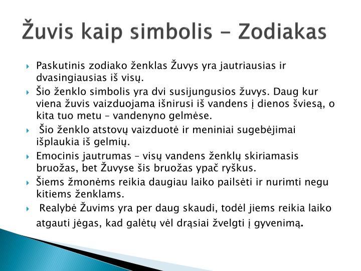 Žuvis kaip simbolis - Zodiakas