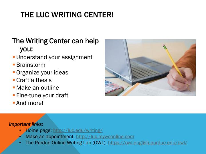 The luc writing center