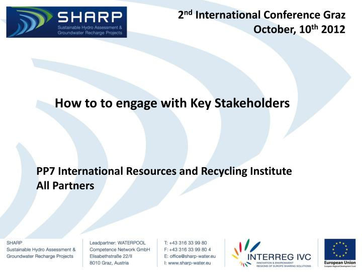 2 nd international conference graz october 10 th 2012