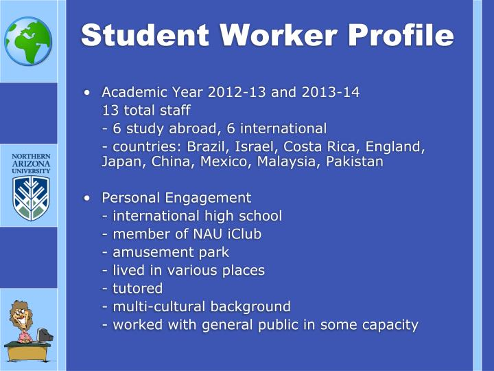 Student Worker Profile
