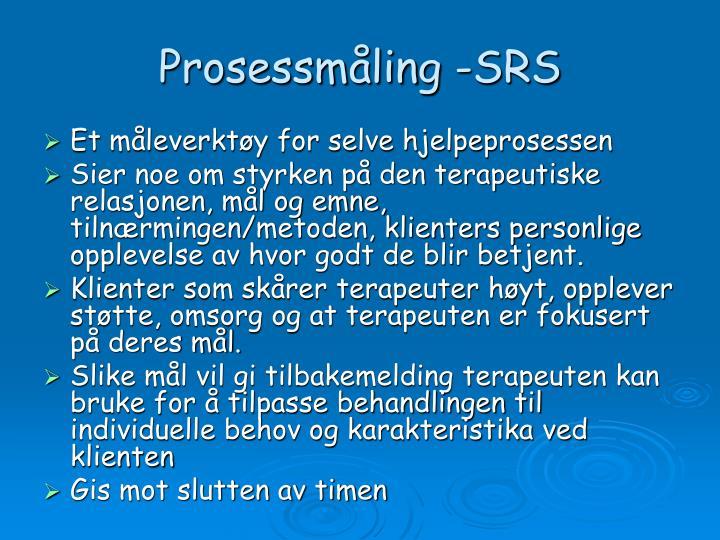 Prosessmåling -SRS