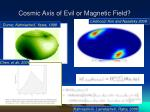cosmic axis of evil or magnetic field