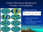 cosmic microwave background puzzles low multipoles