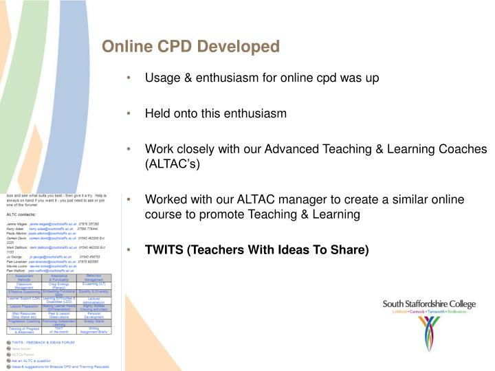 Online CPD Developed