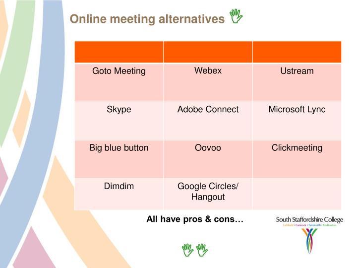 Online meeting alternatives
