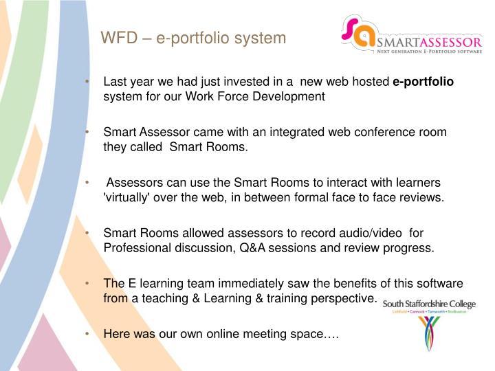 WFD – e-portfolio system