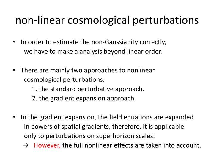 non-linear cosmological perturbations