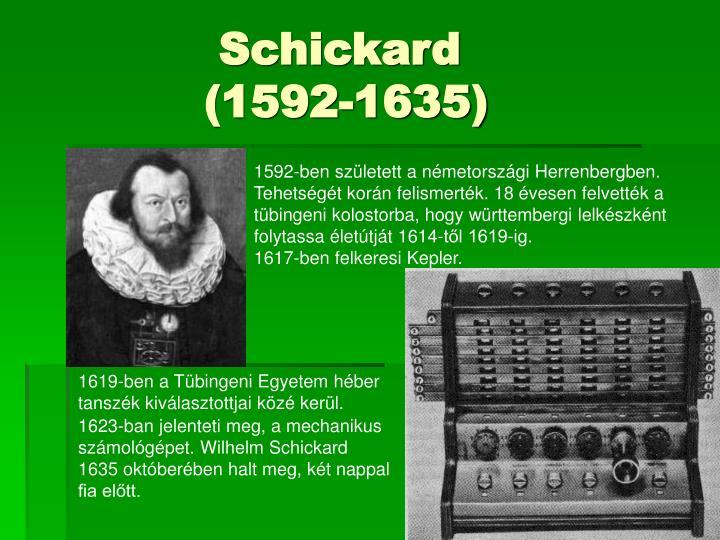 Schickard 1592 1635