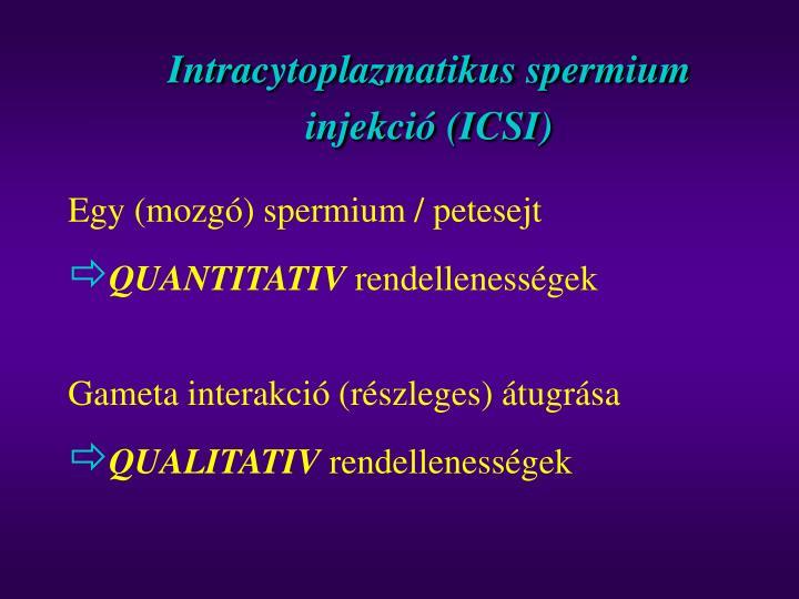 Intracytoplazmatikus spermium injekci icsi