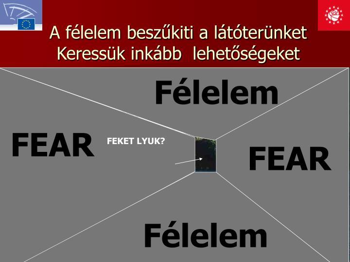 A félelem beszűkiti a látóterünket
