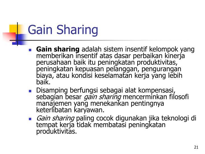 Gain Sharing