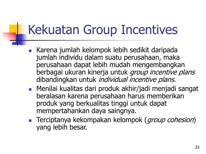 Kekuatan Group Incentives