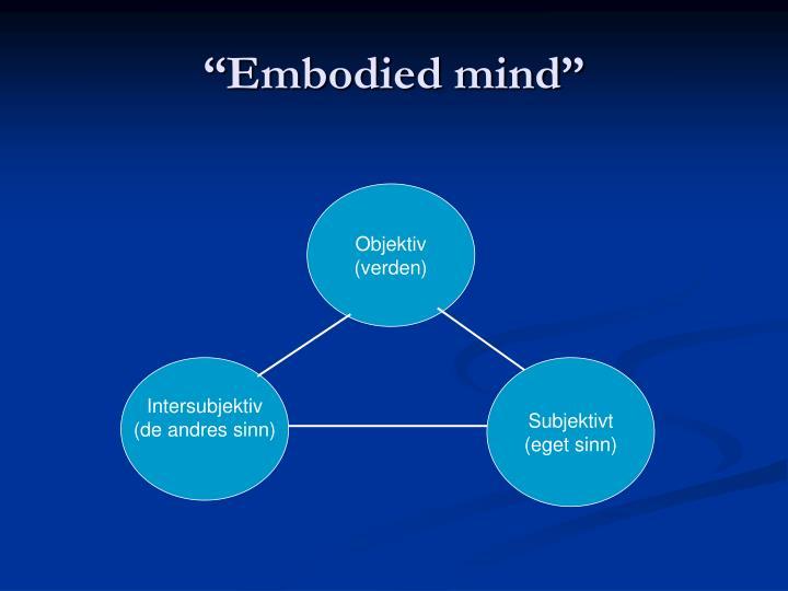 """Embodied mind"""
