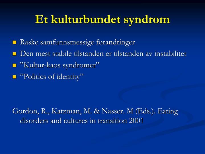 Et kulturbundet syndrom