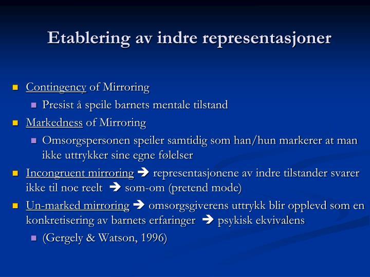 Etablering av indre representasjoner