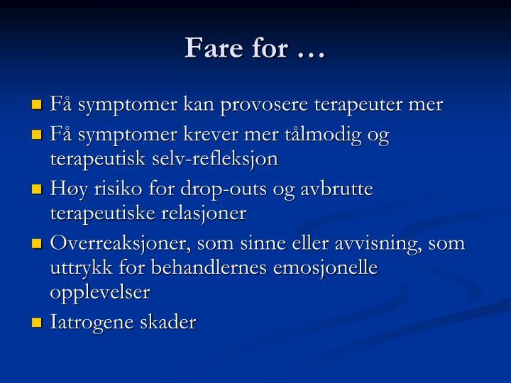 Fare for …