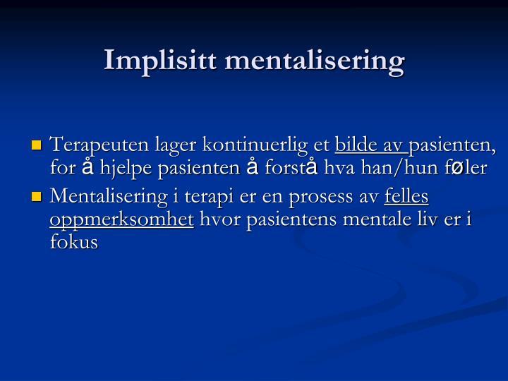 Implisitt mentalisering