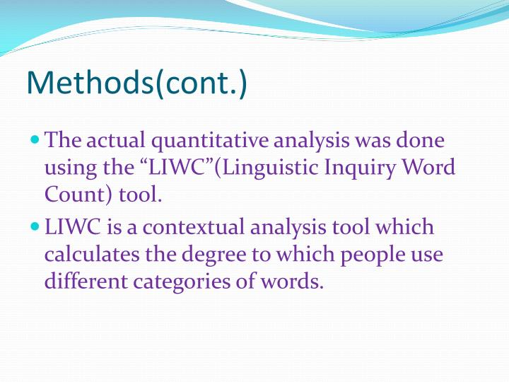 Methods(cont.)