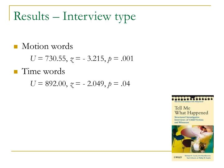 Results – Interview type