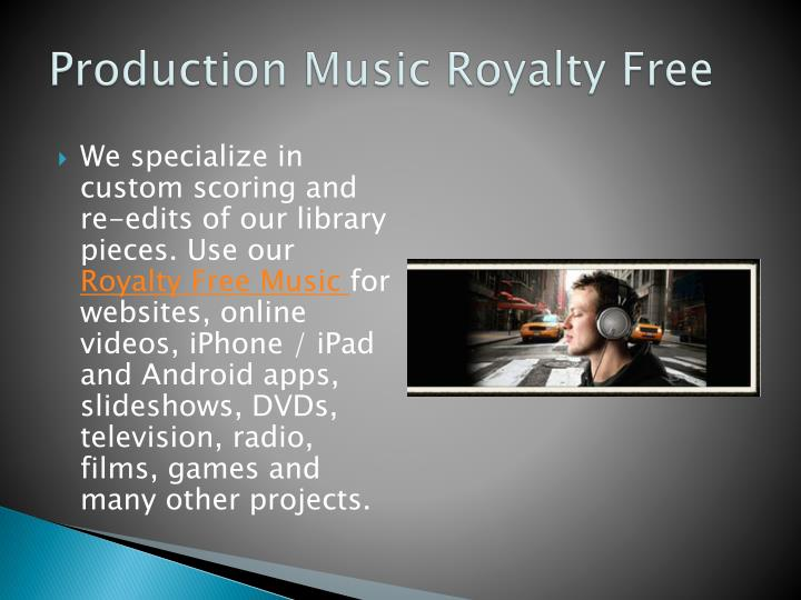 Production music royalty free