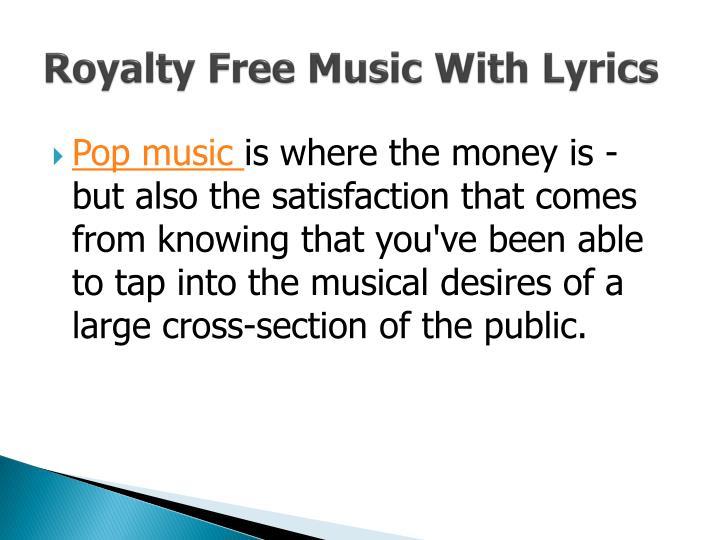 Royalty Free Music With Lyrics
