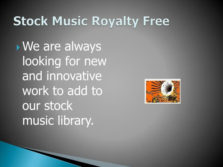 Stock music royalty free