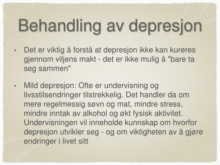 Behandling av depresjon