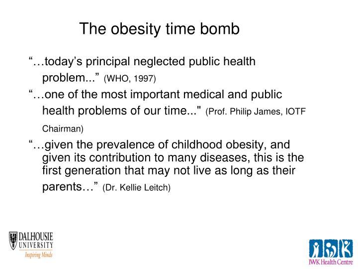 """…today's principal neglected public health problem..."""