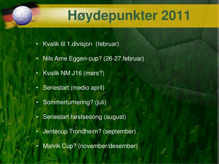Høydepunkter 2011