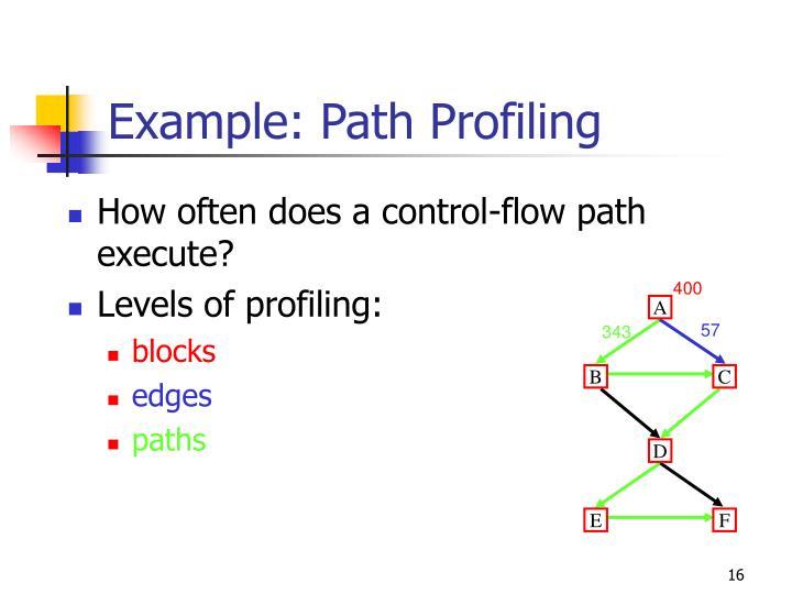 Example: Path Profiling