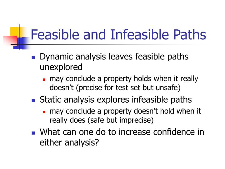 Feasible and Infeasible Paths