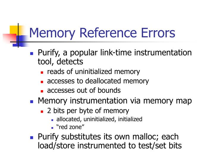 Memory Reference Errors