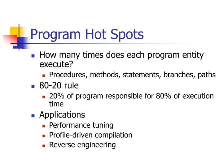 Program Hot Spots
