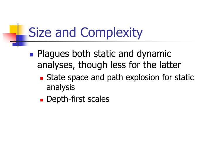 Size and Complexity