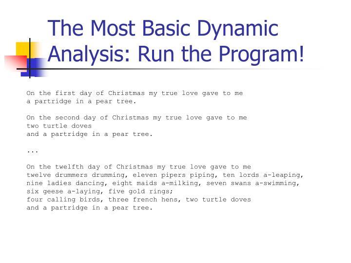 The Most Basic Dynamic Analysis: Run the Program!