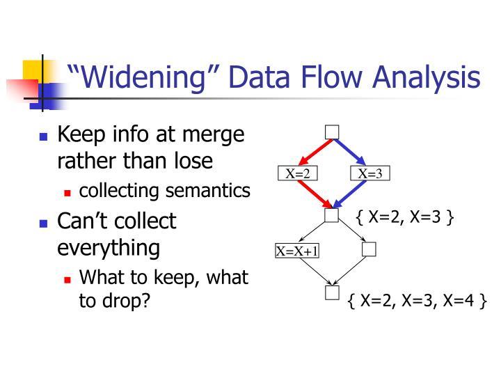 """""""Widening"""" Data Flow Analysis"""