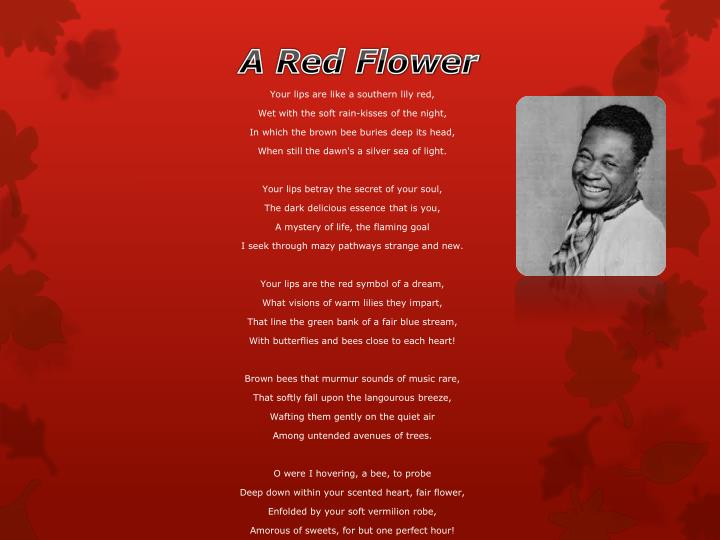 flame heart claude mckay I have forgotten much, but still remember the poinsettia's red, blood-red in warm december.