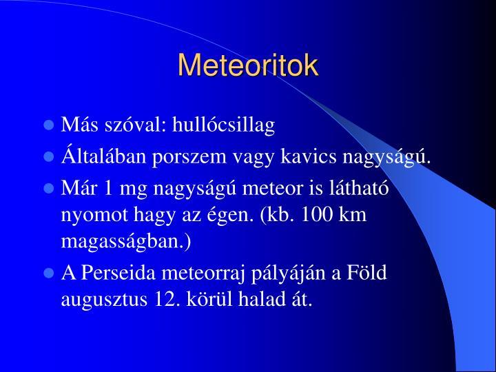 Meteoritok