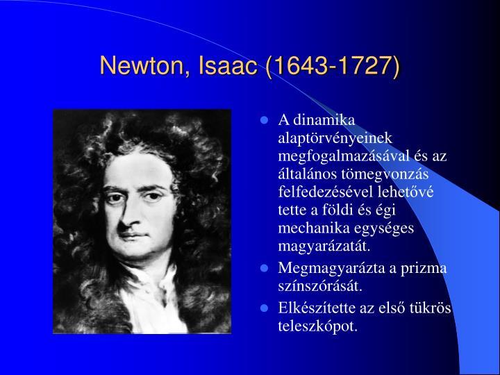 Newton isaac 1643 1727