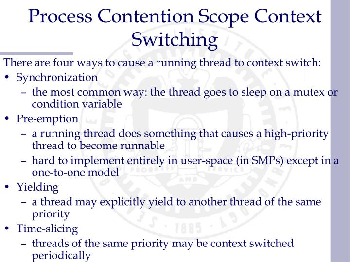 Process Contention Scope Context Switching