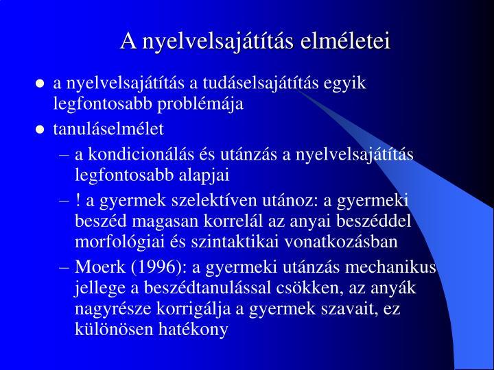 A nyelvelsajátítás elméletei